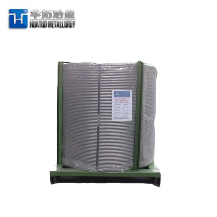 Steel Making Deoxidizer CaSi/Ca Si Cored Wire -4