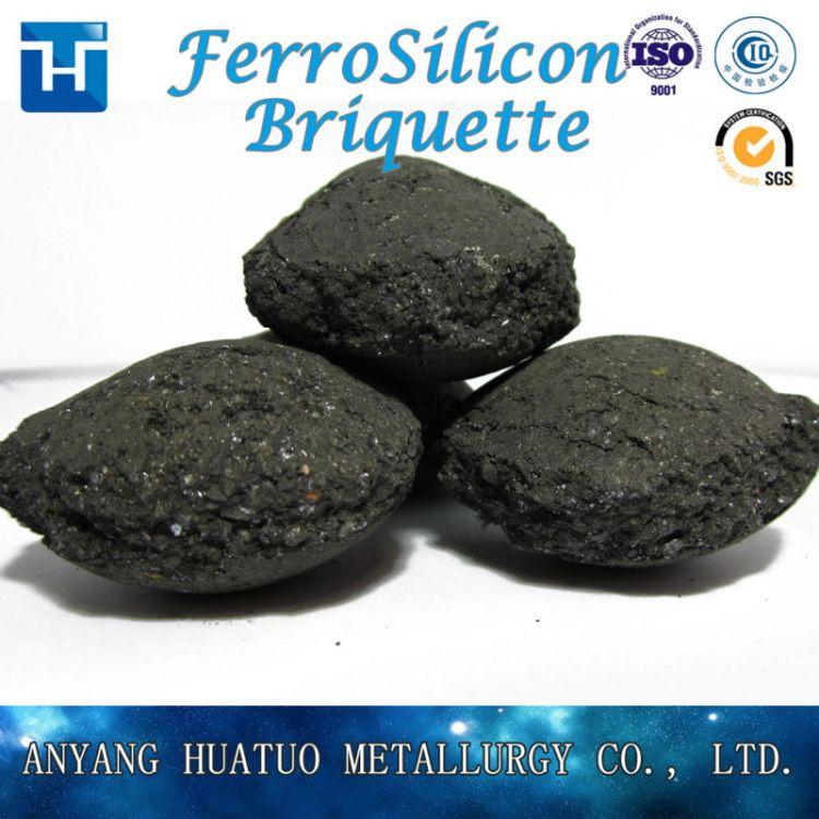 Mineral Ferro Silicon ,FeSi 75/72# Briquette/ball China Factory -3