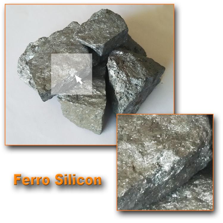 Steelmaking raw material ferro silicium 75/FeSi lump 72