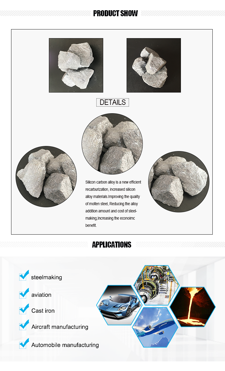 Low Price Of Hot Sale High Carbon Ferro Silicon alloy 50%
