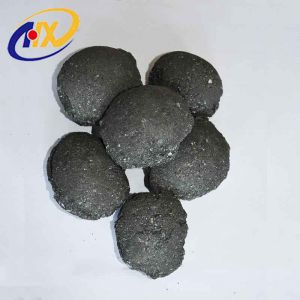 Factory 10-50mm Used In Steelmaking Black Block Si Slag Ball Inoculant And Nodulizer High Quality Silicon Carbide Sic Balls